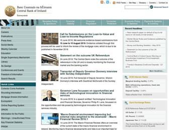 centralbank.ie screenshot
