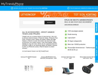 Main page screenshot of mytrendyphone.nl