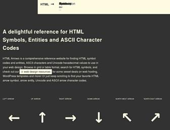 htmlarrows.com screenshot