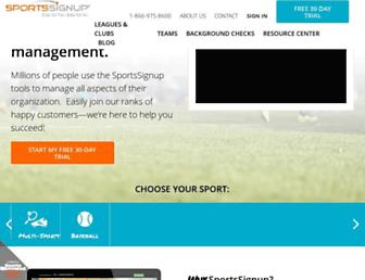 sportssignup.com screenshot
