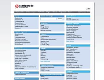Main page screenshot of vakantie.startparade.nl