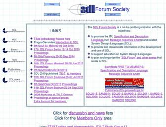 sdl-forum.org screenshot