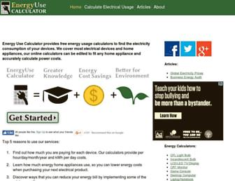 energyusecalculator.com screenshot