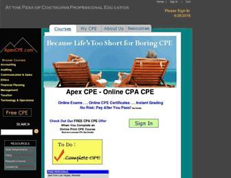 apexcpe.com screenshot