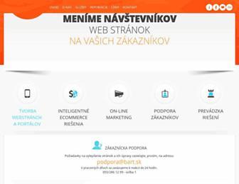 Main page screenshot of bart.sk
