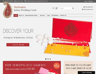 shubhankarweddinginvitations.com screenshot