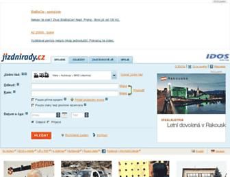 Main page screenshot of idos.cz