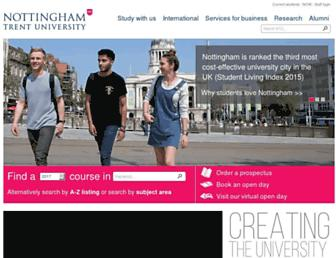 Main page screenshot of ntu.ac.uk