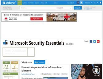 microsoft-security-essentials.en.softonic.com screenshot