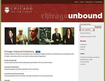 chicagounbound.uchicago.edu screenshot
