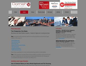Main page screenshot of dornish.net
