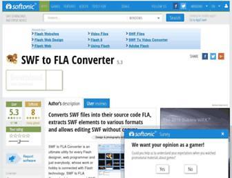 swf-to-fla-converter.en.softonic.com screenshot