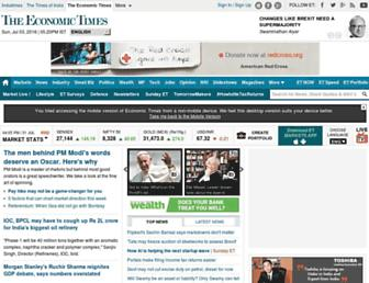 m.economictimes.com screenshot