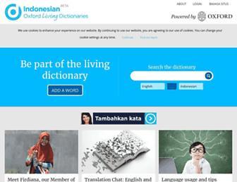 id.oxforddictionaries.com screenshot