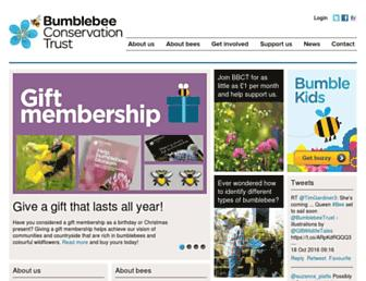 bumblebeeconservation.org screenshot