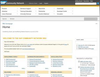 wiki.scn.sap.com screenshot