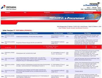 eproc.pertamina.com screenshot