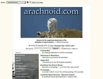 arachnoid.com screenshot