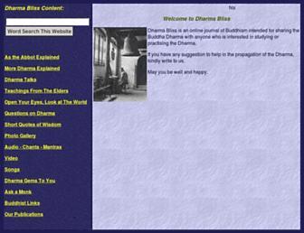 dharmabliss.org screenshot