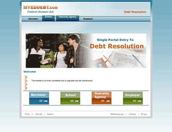 myeddebt.ed.gov screenshot