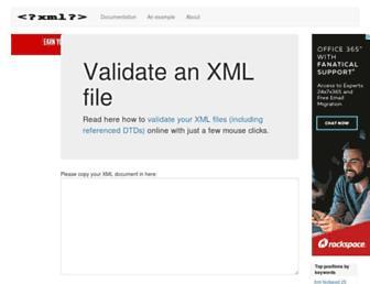 xmlvalidation.com screenshot