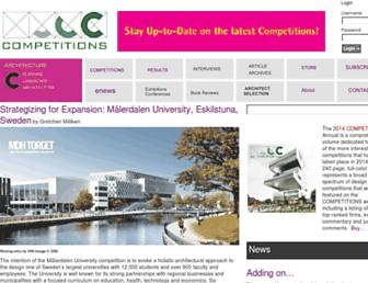 Main page screenshot of competitions.org