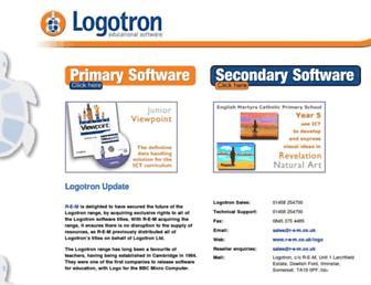 logotron.co.uk screenshot
