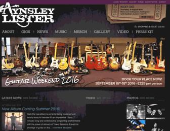 aynsleylister.co.uk screenshot