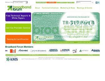 broadband-forum.org screenshot