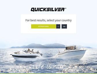 quicksilver-boats.com screenshot