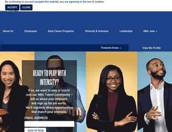 nbacareers.nba.com screenshot