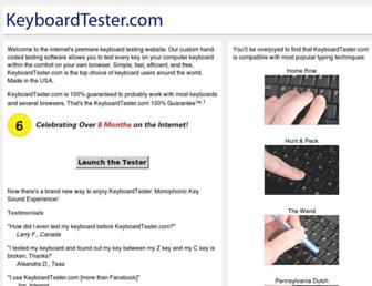 keyboardtester.com screenshot