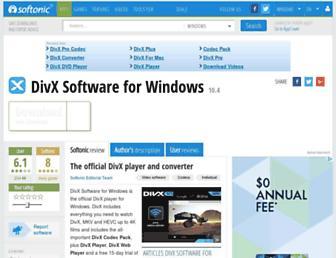 divx.en.softonic.com screenshot