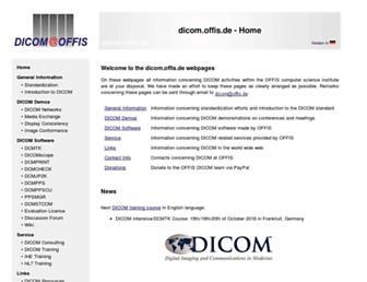 dicom.offis.de screenshot
