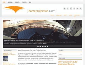 domeprojection.com screenshot