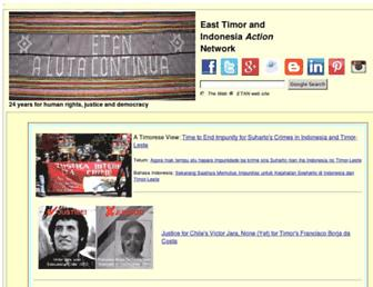 Main page screenshot of etan.org