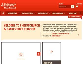 christchurchnz.com screenshot