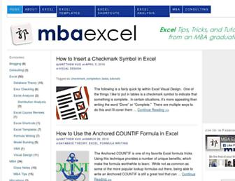 Thumbshot of Mbaexcel.com