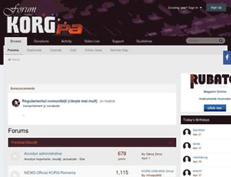 korgforum.ro screenshot
