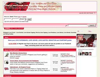 pinoyloveforum.com screenshot