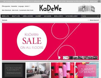 Main page screenshot of kadewe.de