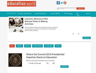 educationworld.com screenshot