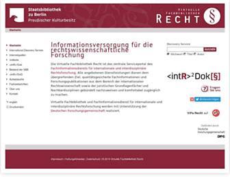 Main page screenshot of vifa-recht.de