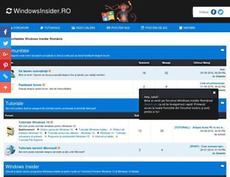 Main page screenshot of windowsfaralimite.ro