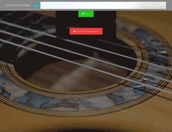 chordsheet.com screenshot