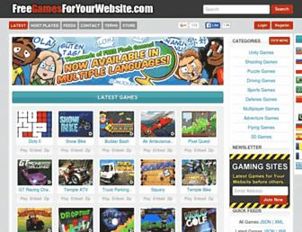 Thumbshot of Freegamesforyourwebsite.com
