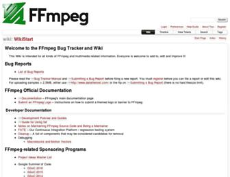trac.ffmpeg.org screenshot