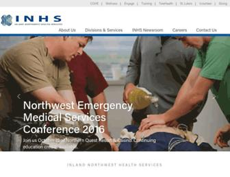 Main page screenshot of inhs.org