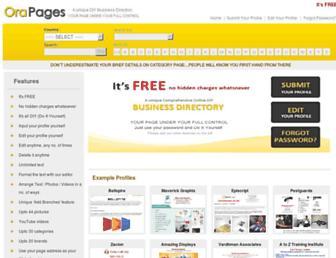 orapages.com screenshot