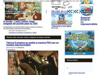 ultimagame.es screenshot